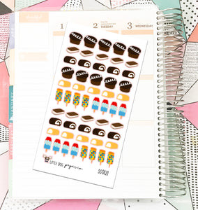 SS0121 // Junk Food // Planner Stickers