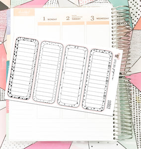 SS0122 // Long Lined Boxes // Planner Stickers