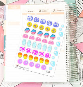 SS0123 // Bath Bombs // Planner Stickers