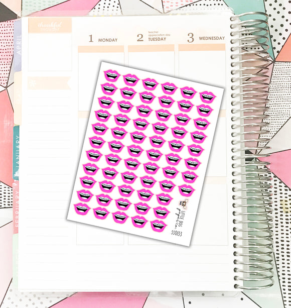 SS0133 // Braces Stickers // Planner Stickers