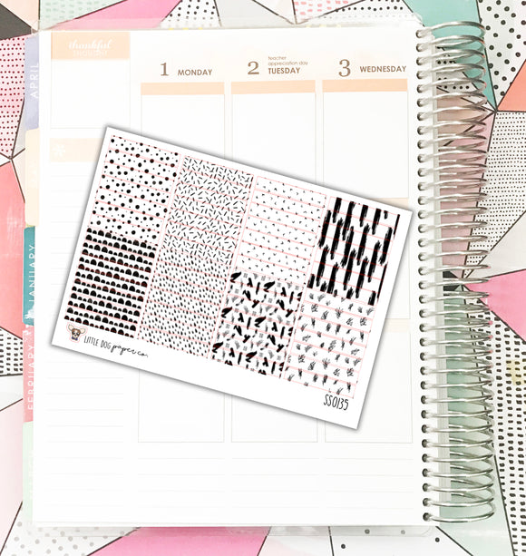 SS0135 // Pattern To Do Labels // Planner Stickers