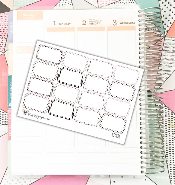 SS0136 // Pattern Half Boxes // Planner Stickers