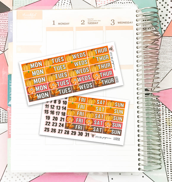 SS0138 // Autumn // Date Covers