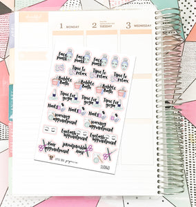 SS0140 // Self Care Icons // Planner Stickers
