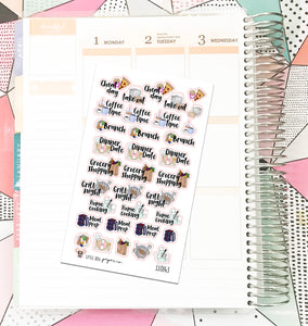 SS0143 // Food Icons // Planner Stickers