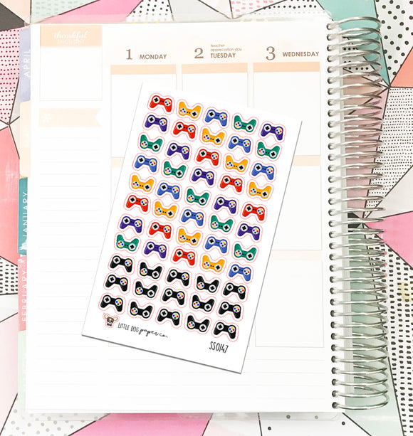 SS0147 // Game Controllers // Planner Stickers