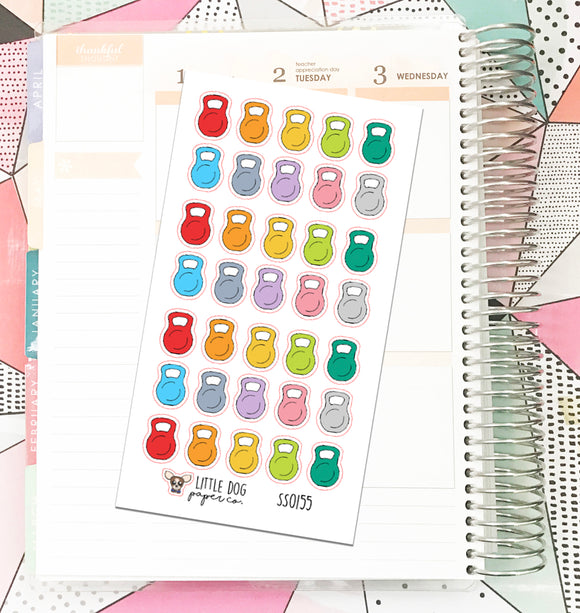 SS0155 // Kettle Bell // Planner Stickers
