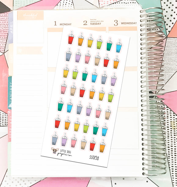 SS0158 // Boba Tea // Planner Stickers
