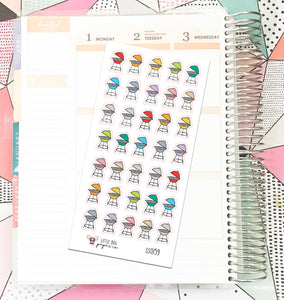 SS0159 // Grill // Planner Stickers