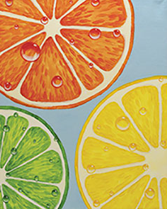 Slices of Citrus 16x20 Canvas -- Wednesday, AUGUST 8th at 7pm