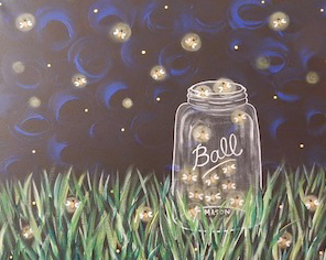 Catchin' Fireflies 16x20 Canvas -- Saturday, August 10th at 2pm