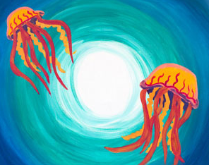 Jellyfish Dance 16x20 Canvas -- Saturday, August 3rd at 2pm