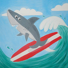 KIDS! Wave Rider 12x12 Canvas -- Friday, SEPTEMBER 14th at 3pm