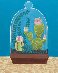 Cactus Cloche 16x20 Canvas -- Friday, JANUARY 25th at 6:30pm
