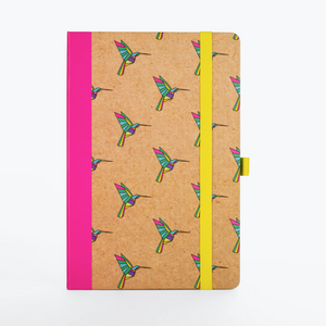 Origami Hummingbird Dot Grid Notebook