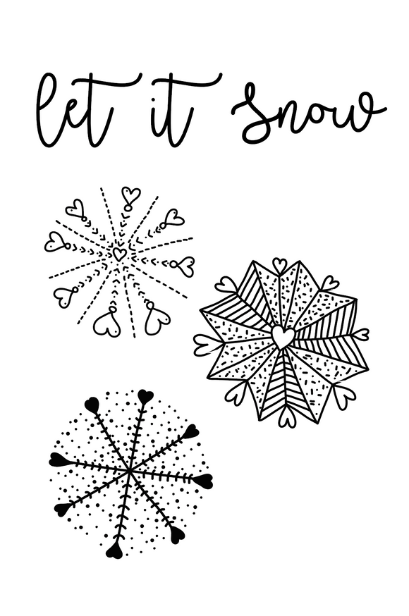 Polymer Stamps // Let it Snow