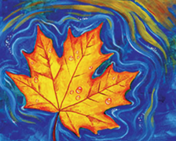 Floating Leaves 16x20 Canvas -- Friday, NOVEMBER 30th at 7pm