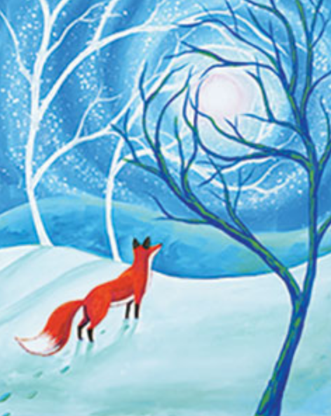Fox in the Forest 16x20 Canvas -- Friday, JANUARY 25th at 6:30pm
