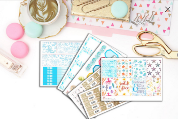Just Beachy Kit // Planner Stickers