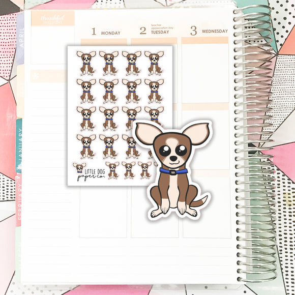 SHEL016 // Sheldon the Dog // Planner Stickers