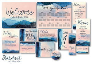 Stardust Wedding Invitation Suite