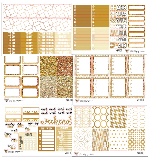 WK0100 // Golden Hour Collection // Planner Stickers