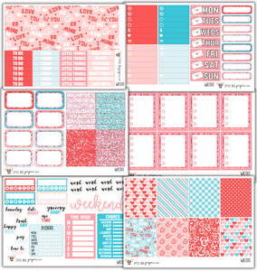 Be Mine Collection // Planner Stickers