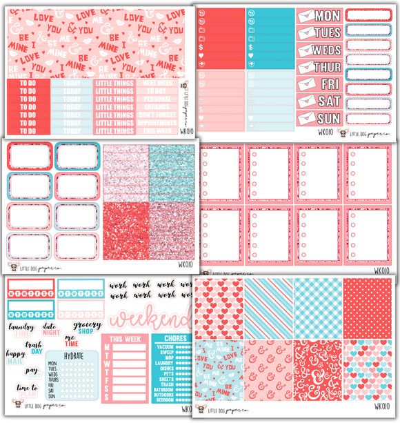 WK010 // Be Mine Collection // Planner Stickers