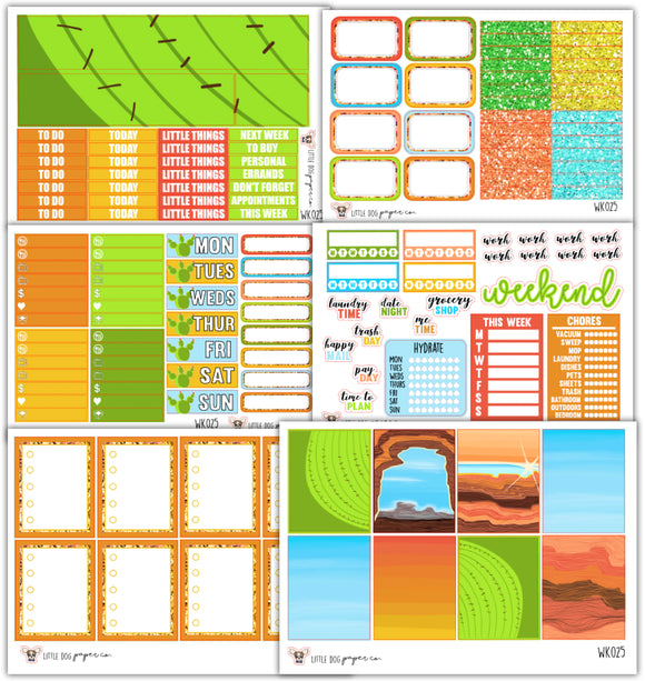 Desert Rose Kit // Planner Stickers