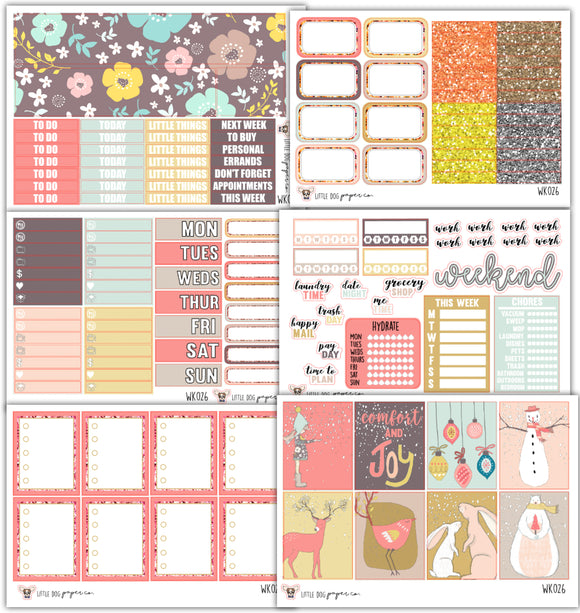 WK026 // Snowy Collection // Planner Stickers