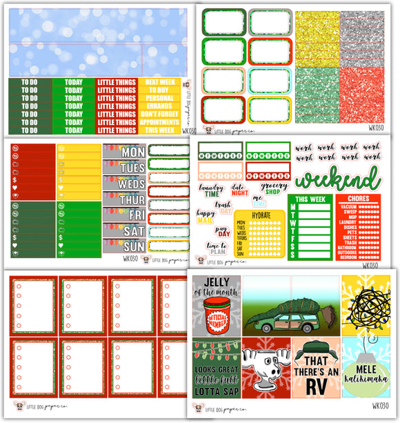 WK030 // Clark's Christmas Collection // Planner Stickers
