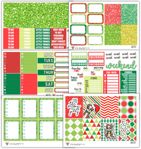 WK031 // Happy Holidays Sheldon Collection // Planner Stickers