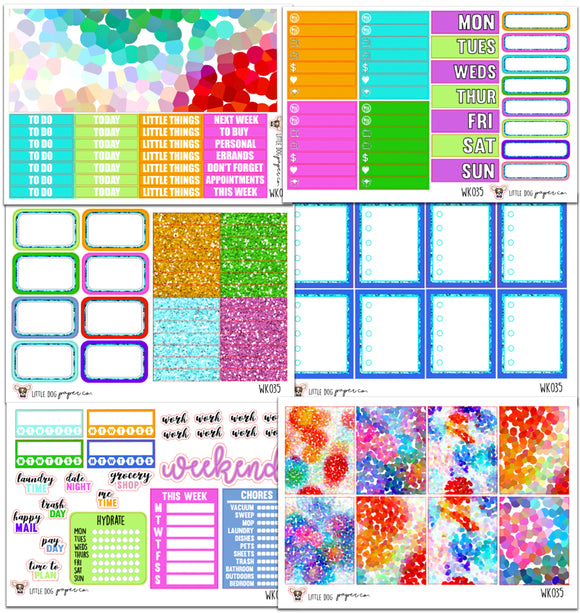 Bright Confetti Collection // Planner Stickers