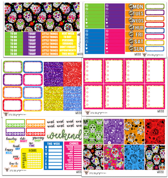 WK038 // Dia de Muertos Collection // Planner Stickers