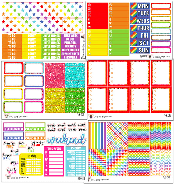 WK039 // Rainbow Collection // Planner Kits