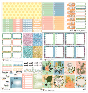WK03 // Soft Floral Collection // Planner Stickers