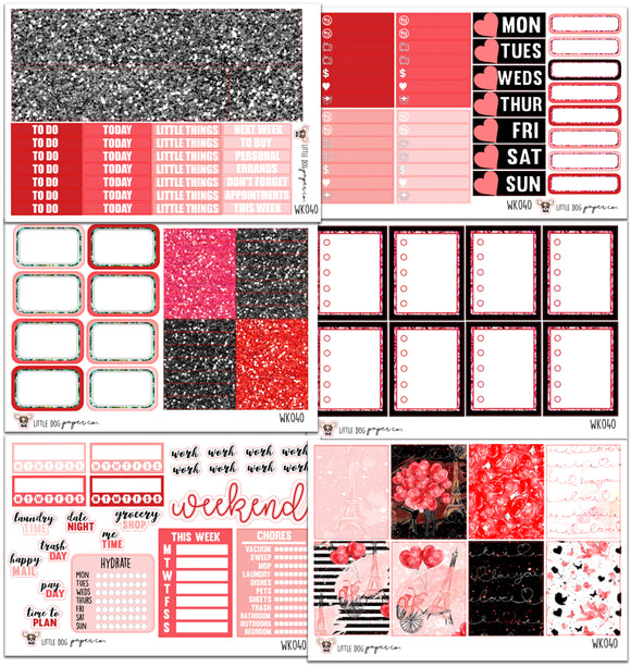 Paris Love Collection // Planner Stickers