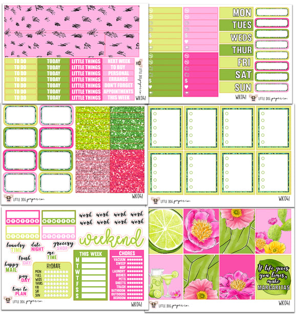 WK041 // Lime & Floral Collection // Planner Stickers