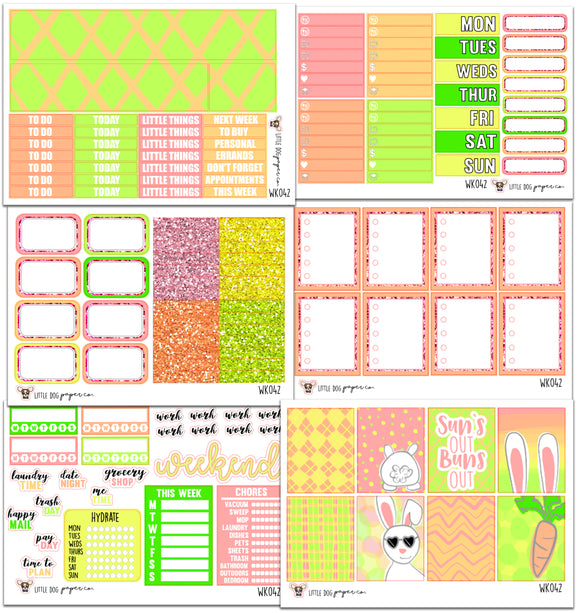 WK042 // Sun's Out Buns Out Collection // Planner Stickers