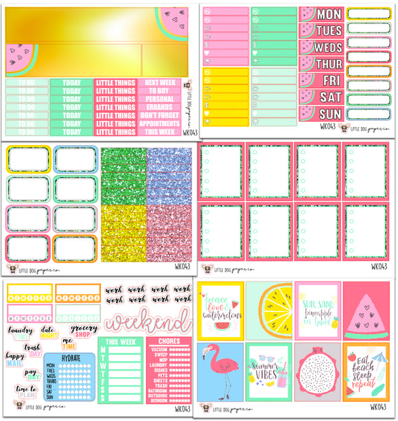 WK043 // Peace, Love & Watermelons Collection // Planner Stickers