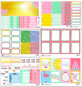Peace, Love & Watermelons Collection // Planner Stickers