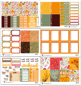 WK044 // Fall Floral Collection // Planner Stickers