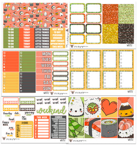 WK052 // Sushi Collection // Planner Stickers