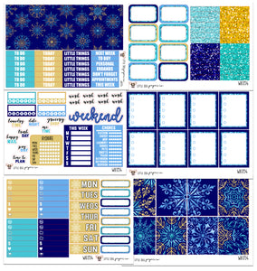 WK054 // Snowflakes Collection // Planner Stickers