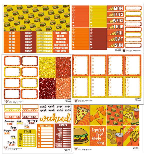 WK055 // Fast Food Collection // Planner Stickers