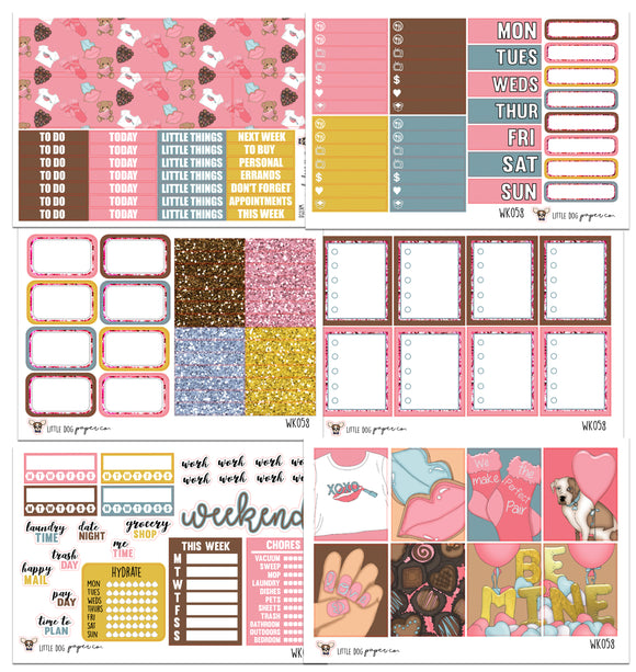 WK058 // Hugs and Kisses Collection // Planner Stickers