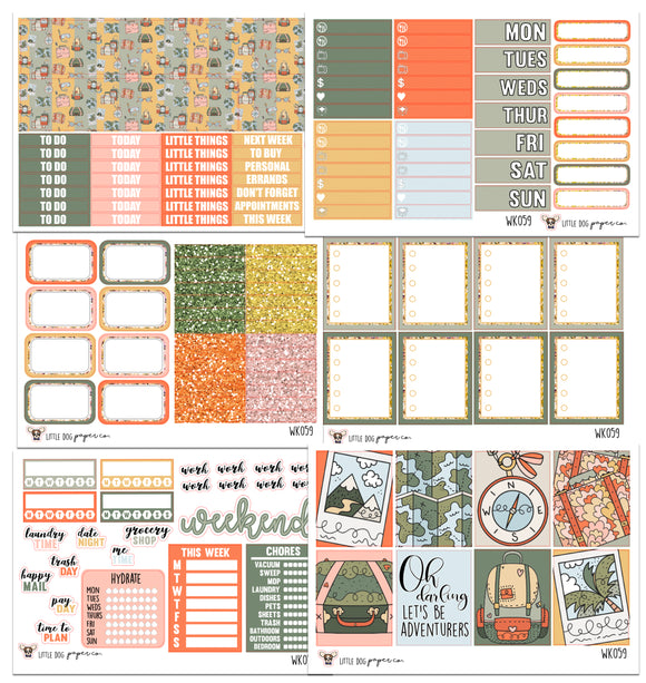 WK059 // Road Trip Collection // Planner Stickers