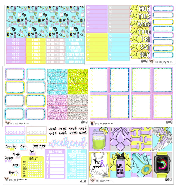 WK061 // Rise and Grind // Planner Stickers