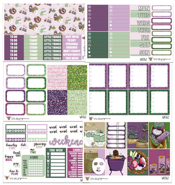WK062 // Spa Day Collection // Planner Stickers