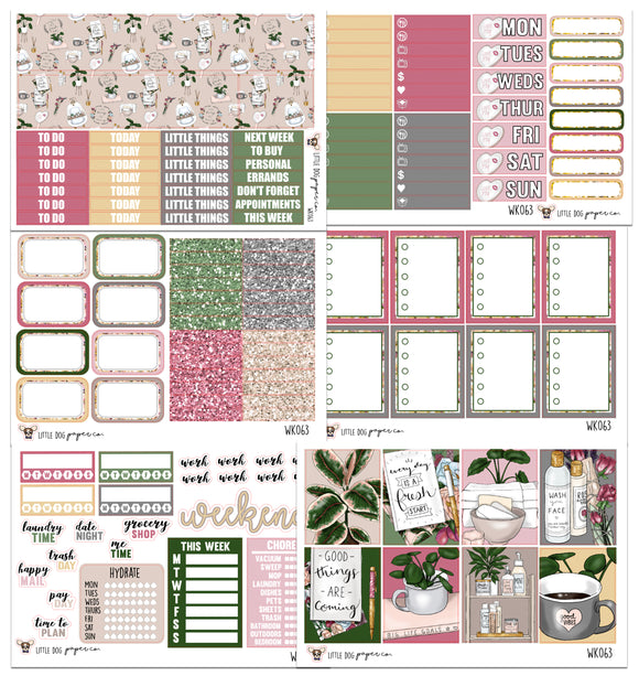 WK063 // Me Time Collection // Planner Stickers